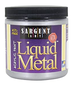 Sargent Art 22-1182 8-Ounce Liquid Metal Acrylic Paint, Silver