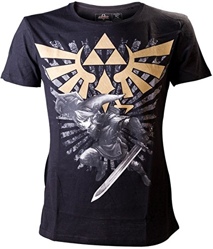 Zelda Triforce Link T-Shirt nero XXL