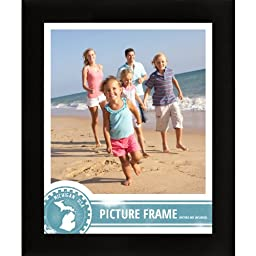 Craig Frames 1WB3BK 14 by 18-Inch Picture Frame, Smooth Wrap Finish, 1-Inch Wide, Black