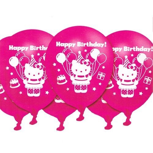 Hello Kitty Birthday 12in Latex Balloons (6ct)