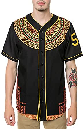 LATHC Men's Dashiki Jersey Medium Black at Amazon Men's