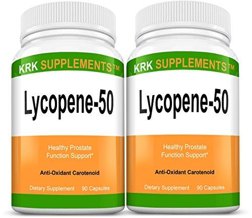2 bouteilles Lycopène 50mg 180 Capsules total