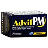 Advil PM Pain Reliever (NSAID)/Nighttime Sleep-Aid, Coated Caplets, 120 caplets