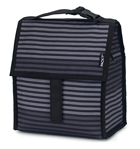 Purchase PackIt Freezable Lunch Bag with Zip Closure, Gray Stripe