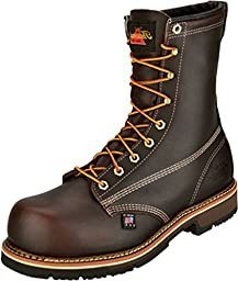 804-4368 Thorogood Men\'s 8IN Emperor Toe Safety Boots - Brown - 9.5 - 4E