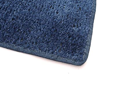 """Outdoor Turf Rug / Aisle Runner - DARK BLUE - 1/4"""" Thick - 8 oz. Artificial Grass with Premium BOUND Nylon Edges. 8 Oz. - 100% UV olefin. Light Weight Marine Back. Many Custom Sizes & Shapes Available"""