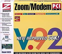 Zoom 3025-00-00L V92/V44 PCI Internal Controlerless Fax Modem
