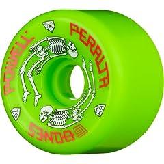 Buy Powell-Peralta G-Bones 97A Skateboard Wheels (Green, 64mm) by Powell-Peralta