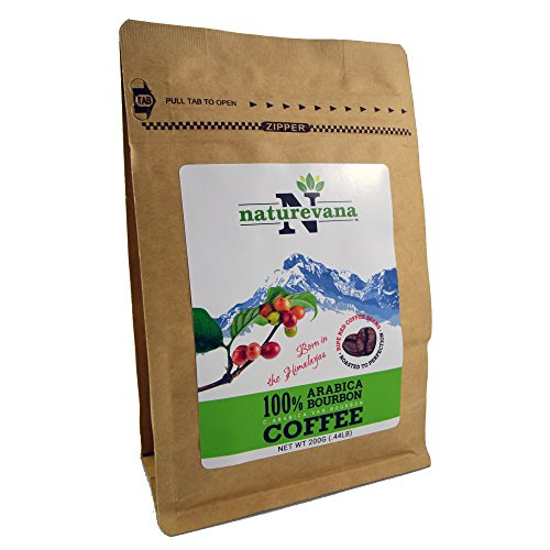 Himalayan Whole Bean Coffee By Naturevana| 100% Pure Natural Arabica Blend| 200g| Premium Grade Roasted Beans For Strong Flavor & Full Body | 100% Fair Trade Coffee| The Gourmet Coffee For Home (Kuerig Light Roast Coffee compare prices)