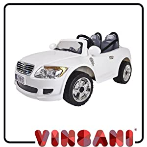 White 12V Twin Motor 2 Seater Electric Battery Kids Ride On Car Coupe N15