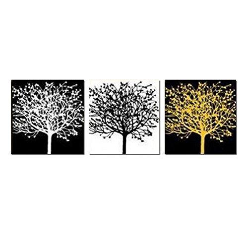 H.COZY Schwarz und Weiß abstrakte Malerei WANDBILD BILDER WANDBILDER Sets zur Dekoration Ölgemälde groß Modern Art Leinwanddruck (keine Einrahmung)