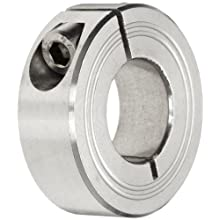 Climax Metal One-Piece Clamping Shaft Collar, Stainless Steel 303, Metric