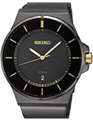 Seiko Black Ion-Plated Bracelet Men's watch #SGEG19