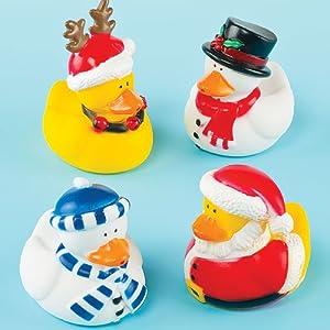 Funky Christmas Ducks (Pack of 4)