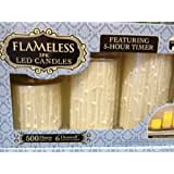 Flameless LED Candles - 3PK 5-Hour Timer Realistic Wick & Unscented Wax