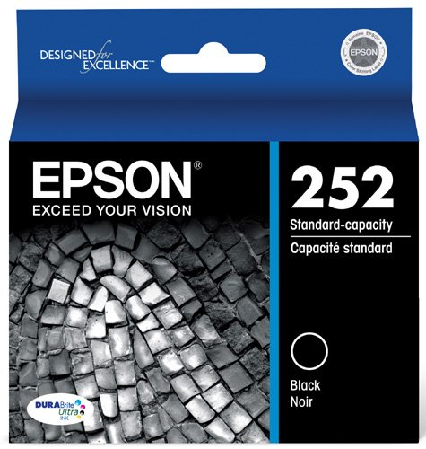 Epson 252 Original, Black Ink Cartridge (T252120)