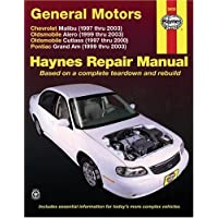 General Motors: Chevrolet Malibu (1997 thru 2003) Oldsmobile Alero (1999 thru 2003) Oldsmobile Cutlass (1997-2000...