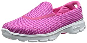 Skechers Performance Women's Go Walk 3 Slip-On Walking Shoe,Hot Pink,6.5 M US