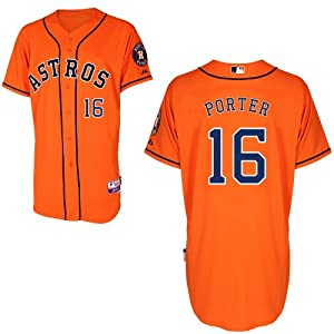 Bo Porter Houston Astros Alternate Orange Authentic Cool Base Jersey by Majestic by Majestic