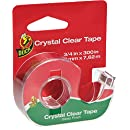 Duck Brand Crystal Clear Tape with Dispenser, Glossy, 3/4-Inch x 300 Inches, Single Roll (667739)
