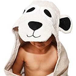 Plovf Bear Baby Towel - Premium Soft and Absorbent Cotton Hooded Towel for Girls and Boys