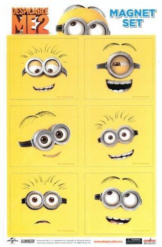 Despicable Me 2 Line Art Minions Magnet Collection
