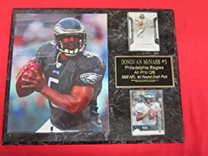 Donovan McNabb Philadelphia Eagles 2 Card Collector Plaque w 8x10 Photo by J & C Baseball Clubhouse