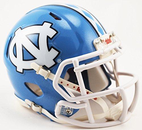 NORTH CAROLINA TAR HEELS NCAA Riddell Revolution SPEED Mini Football Helmet UNC (ARGYLE STRIPE) (Football Helmet Stripes compare prices)