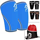 CHLC HOUSE Knee Sleeves 1 Pair Free Gym Bag - Squat Knee Support Compression For Powerlifting Olympic Weightlifting...