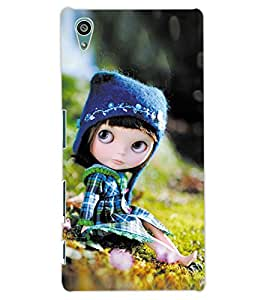 ColourCraft Cute Doll Design Back Case Cover for SONY XPERIA Z5