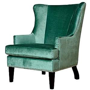tov furniture soho velvet wing chair