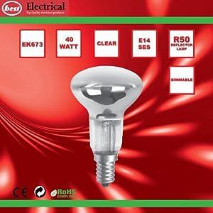 Bulk Hardware BH00561 SES R50 Reflector Lamp, 40 W - Pack of 5 by Bulk Hardware Ltd