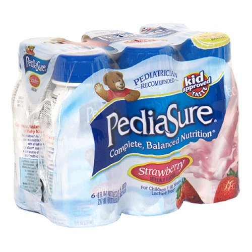 Pediasure Complete Lactose Free Nutrition Drink, Strawberry, 8-Ounce Bottles In 6-Count Packages (Pack Of 2)