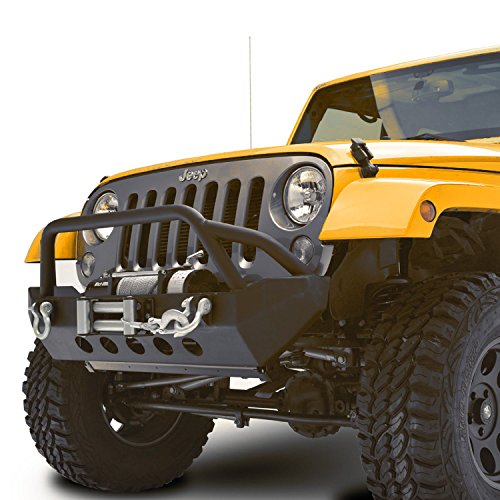 Restyling-Factory-07-16-Jeep-Wrangler-JK-Black-Textured-Rock-Crawler-Front-Bumper-with-Winch-Plate