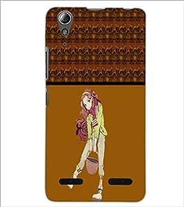 PrintDhaba Digital Skull D-4774 Back Case Cover for LENOVO A6000 (Multi-Coloured)