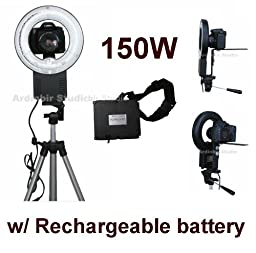 Camera 150W Macro Ring Light for Canon EOS 450D, 1000D, 550D, 400D, 500D, 350D, Xsi, T1i, T2i, Xti, XS, XT, 50D, 40D, 10D, 20D, 7D, 5D Mark II, 1D Mark II, III, IV, 1Ds