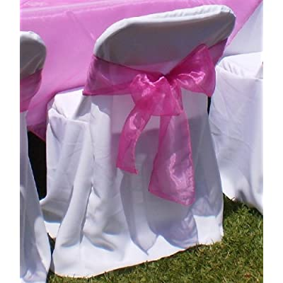 Amazon.com - 100 Ivory Polyester Wedding Chair Covers for Plastic