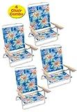 Rio High Back Beach Chair - 5 position LayFlat - Matching Set Of 4 138