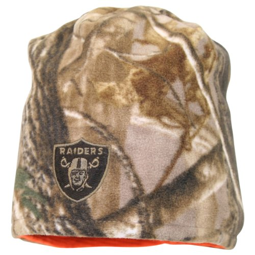 NFL Realtree AP Camo Reversible Winter Knit Hat / Beanie - Oakland Raiders at Amazon.com