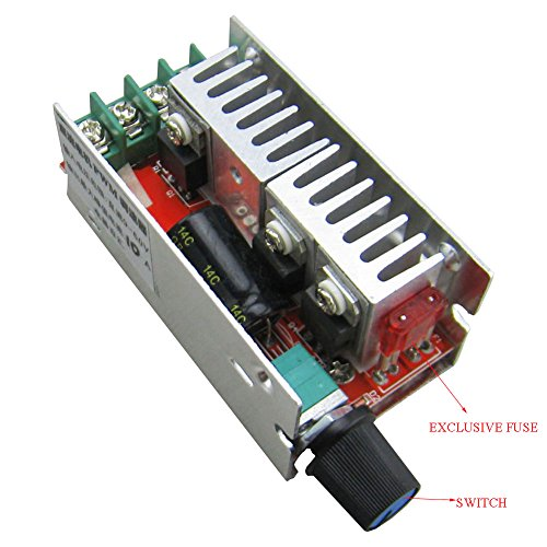 Yeeco dc 7v 60v 20a pwm controller stepless dc motor speed for 48v dc motor speed controller circuit