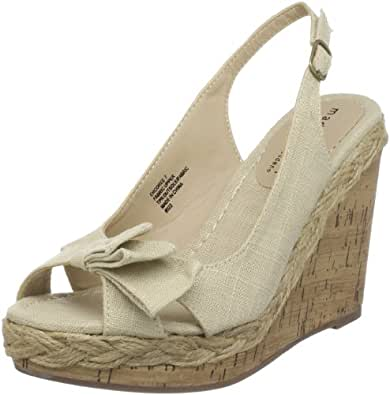 Madden Girl Women's Encoree Espadrille,Natural Linen,8.5 M US