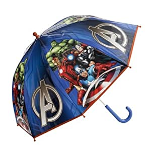 Official Marvel Avengers Blue Umbrella Kids School Bubble Brolly Gift Dome New