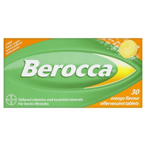 Berocca Orange Flavour Sugar Fee Tailored Vitamins & Essential Minerals For Hectic Lifestyles 30 Effervescent Tablets