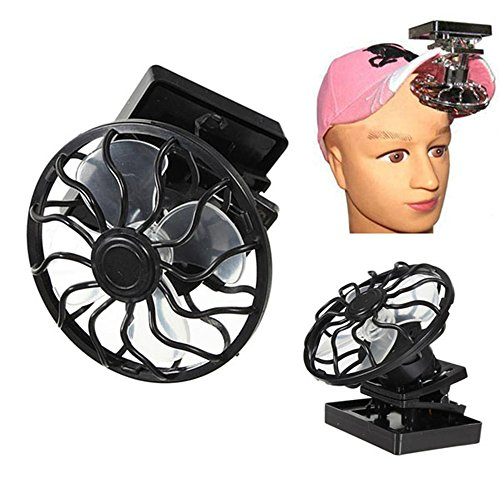 Hat Mini Clip Solar Sun Eco-friend Cap Blk W Portable Energy Power Panel Cell Cooling Fan Cooler (Malibu Breeze Dress compare prices)