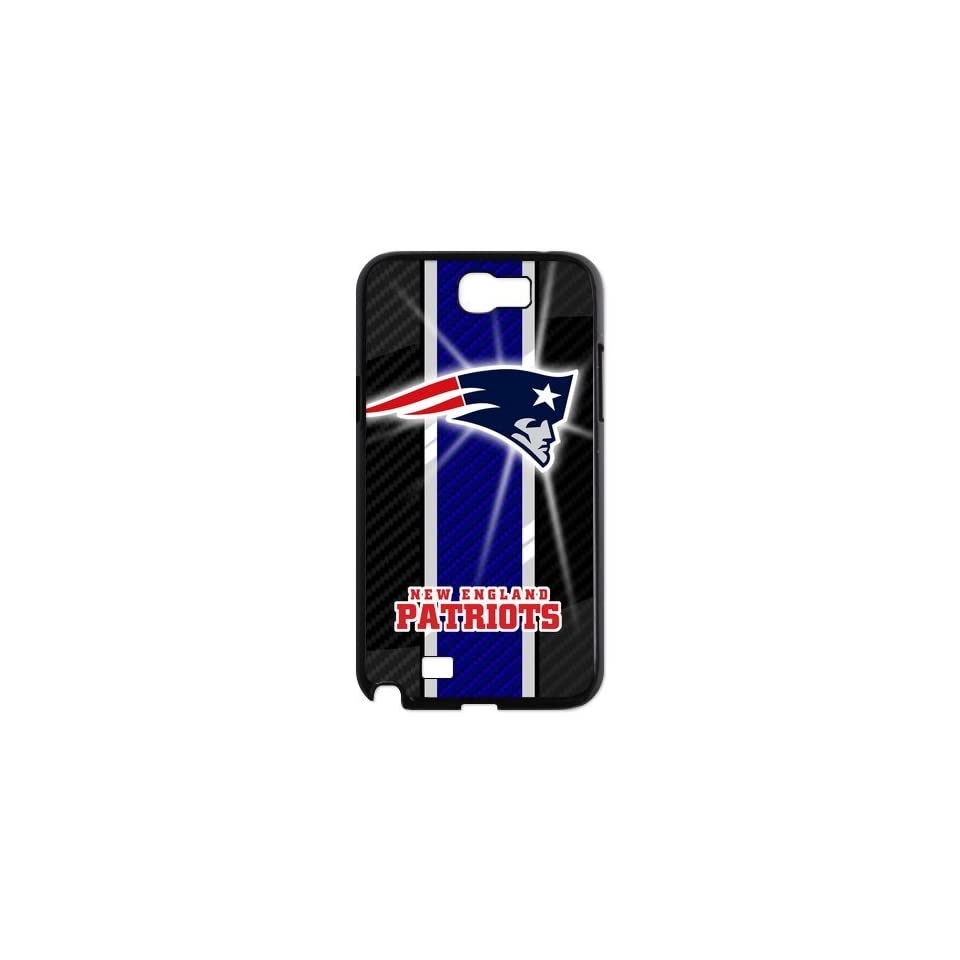 Custom NFL New England Patriots Team Logo Snap On Samsung Galaxy Note 2 N7100 Case Cover at cases shoppingmall store Cell Phones & Accessories
