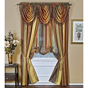 Achim Home Furnishings Ombre Tie Up Curtains, 50 by 63-Inch from Achim Imports