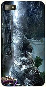 Incredible multicolor printed protective REBEL mobile back cover for Blackberry Z10 D.No.N-L-16809-BBZ10