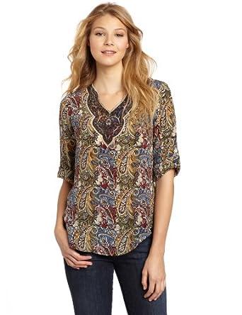 Tolani Women's Moni Tunic Top, Brown, X-Small