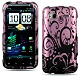 Purple Swirl Butterfly Hard Cover Case For HTC Sensation 4G Android Phone ( ....