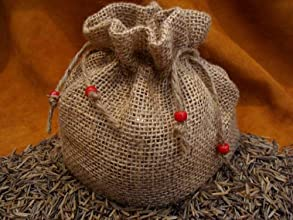 2 lbs Of Bineshii Gourmet Wood Parched Wild Rice in Burlap Sack